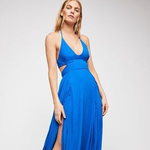 FREE PEOPLE Lille Maxi Dress (ROYAL BLUE)